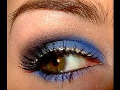 Blue skinny jeans make up tutorial.  Want a look to go with your blue skinnies? Try this one out for size :)