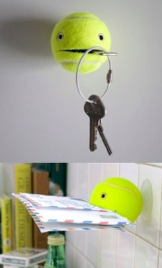 tennis ball holder life hack