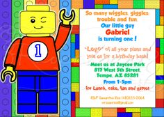 LEGO Guy / Brick Birthday Invitation Printable by RiverBound, $6.00