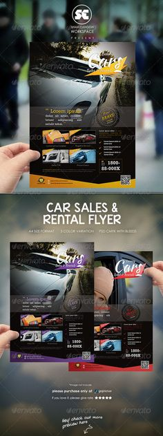 Car Sales Rental Flyer/Magazine Ads — Photoshop PSD #advert #brochure • Available here → https://graphicriver.net/item/car-sales-rental-flyermagazine-ads/6856106?ref=pxcr