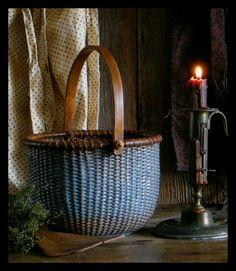 Old blue basket