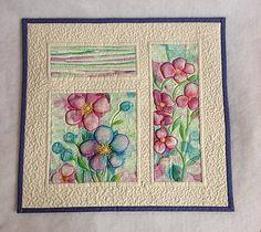 Textilný obraz - kvetná nálada