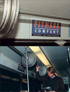 Fitness company. Malhando no transporte público :-)
