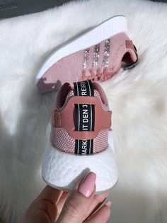 41e8fa8df209d4 Women s Bling Adidas NMD Runner R2 Made with SWAROVSKI® Xirius Rose  Crystals - Copper White