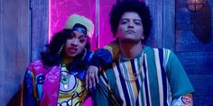 Bruno Mars and Cardi B Finesse 90s Hip Hop style