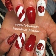 Acrylic Nail Designs 422282902557741496 - Festive Christmas Nail Designs for An outstanding Christmas nail art can help you get into the Christmas spirit.Hopefully you will find yours from this list and make you stand out this season. Christmas Nail Art Designs, Holiday Nail Art, Christmas Gel Nails, Diy Xmas Nails, Diy Christmas Nail Art, Christmas Christmas, Christmas Ideas, Christmas Decorations, Trendy Nails