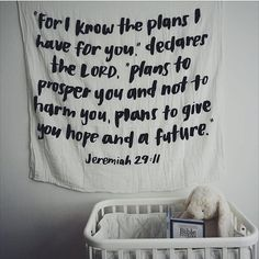 Nursery decorating doesn't have to be hard. All you really need is a swaddle. ❤️ #Jeremiah29:11Swaddle #modernburlap