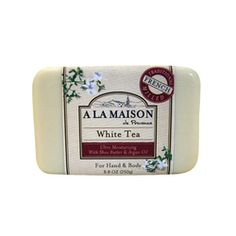 $5.39- A La Maison Bar Soap White Tea - 8.8 oz, The traditional recipe dates back to 1828 in France when Marseille soap masters developed the famous French milled process, resulting into a rich, smooth, lathering, softer bar soap.