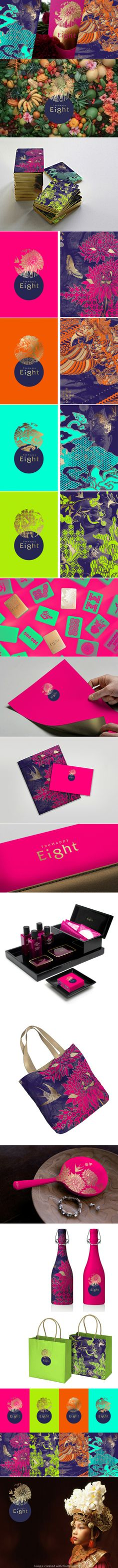 The Happy Eight Hotel Branding. If I want to get quirky later with the colors of the other advertising material. Melissa Pavlich.