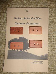 Botónes Rectangulares en Madera Nativa de por ElEmporiodeSofia