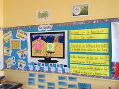An Teilifís Classroom Layout, Classroom Displays, Classroom Decor, Irish Poems, Irish Language, Math Anchor Charts, School 2017, Help Teaching, Primary School