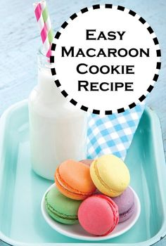 Want a taste of this French classic? Learn how to make these delicious and super Easy Macaroon Cookies! ~ they are MACARONs (macaroons are the sticky coconut cookies). Yummy Recipes, Sweet Recipes, Cookie Recipes, Yummy Food, Dessert Recipes, Macaroon Cookies, Cake Cookies, Coconut Cookies, Vegan Recipes