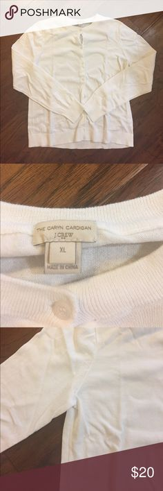 J.Crew Caryn Cardigan J.Crew Caryn Cardigan - White - Xl! Great white cardigan from Jcrew and in perfect condition no stains. No Trades - smoke free home. J. Crew Sweaters Cardigans