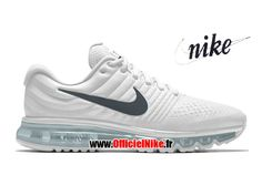 new product 3c66f c1189 Femme/Enfant Chaussures Nike Wmns Air Max 2017 iD Blanc/Gris foncé/Blanc