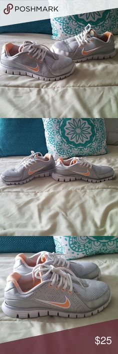 Nike Freewalk Size 6 1/2 Very comfy shoes Silver and light orange Normal wear Nike Shoes Athletic Shoes