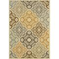Entry - Outdoor/Indoor Ivory/Grey Synthetic Area Rug | Overstock.com Shopping - The Best Deals on 7x9 - 10x14 Rugs