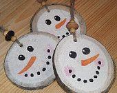 Snowman Christmas Ornament Rustic Primitive by RusticCharmDesign