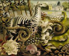 Zebra in the Garden, Mary Fedden. English (1915 - 2012)