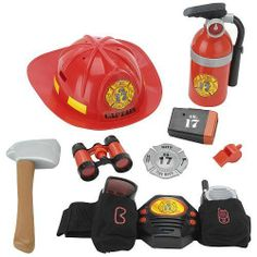 True Heroes Talking Fireman Utility Belt with Working Flashlight by Toys R Us. $37.15. Save the day with the True Heroes Talking Fireman Utility Belt. When an imaginary fire strikes, your little guy will be ready with his fire-fighting gear, helmet, and badge. Strap on the talking utility belt, and he'll have goggles, a working light, axe, whistle, pretend radio, and binoculars within easy reach. The play fire extinguisher takes care of the pretend blazes, and the little hero ...