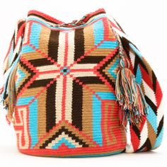 Cabo Wayuu Mochila | WAYUU TRIBE | Handmade Bohemian Bags Crochet Handbags, Crochet Purses, Crochet Bags, Tapestry Crochet Patterns, Tapestry Bag, What To Wear Today, Boho Bags, Knitted Bags, Handmade Bags