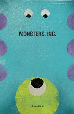 Monsters Inc. Fan Posters http://bensbargains.net/thecheckout/awesomeness/we-scare-because-we-care-20-monsters-inc-fan-poster