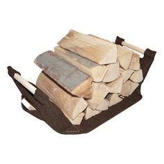 Holzkorb mahagonibraun mit Echtholzgriffen #holzkorb #filzkorb #kaminholzkorb