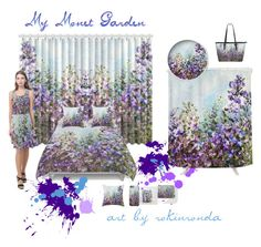 """Monet Garden"" by artist-rhonda ❤ liked on Polyvore featuring art"