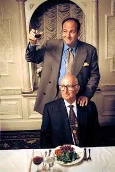 Gandolfini and Dominic Chianese in The Sopranos Os Sopranos, Dominic Chianese, The Escapists, Tony Soprano, Melissa Joan Hart, Steve Buscemi, Hbo Series, Great Tv Shows, Entertainment