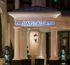 Capital Grille, Costa Mesa, Recommended Menu Items: Calamari, French Onion Soup, Ribeye Steak Sandwich w/ Caramelized Onions & Havarti Cheese