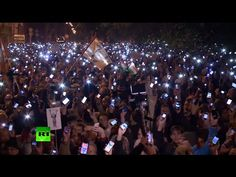 Furious over an internet tax, thousands rally in Budapest.