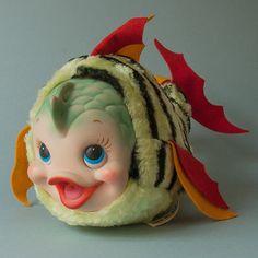Rushton-Rubber-Face-Fish-vinyl-face-plush-Marineland-Waterbabies