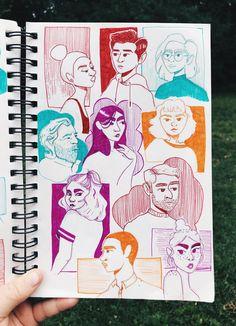 Art Drawings Sketches, Cute Drawings, Arte Sketchbook, Art Diary, Character Art, Character Design, Sketchbook Inspiration, Sketchbook Ideas, Cartoon Art Styles