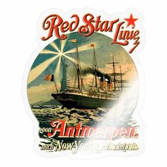 RED STAR LINIE ANTROERPEN CREATION LOUIS RUNEMBERG   BOUTIQUE ART T NORMANDIE PARIS ! Paris, Boutique, York, Normandie, Gifts, Simple Lines, Montmartre Paris, Paris France, Boutiques