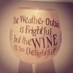 Christmas Winter Wonderland Personalized Wine Glass. $15.00, via Etsy. Gift idea for Brenda.