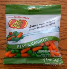 Jelly Belly Peas and Carrots!  So cute!