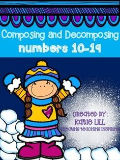 *Such an essential skill to learn* Composing and Decomposing teen numbers is such an essential skill for kindergarten students to master. The skills practiced in this pack will get your students to mastery. Kindergarten Math Activities, Preschool Math, Math Resources, Teaching Math, Kindergarten Class, Teaching Ideas, Daily 5 Math, Daily 3, Classroom Posters