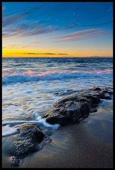 Sunset beach - Skarðsvík, Snæfellsnes, Iceland  (by Friðþjófur M. on Flickr)