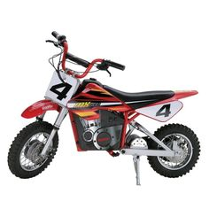 Looking for electric dirt bikes for sale so you can buy your kid a small dirt bike? The Razor Dirt Rocket Electric Motocross Bike is something you might want to look into. The Razor Dirt Bike is fast, well built and fun to ride. Electric Bike For Kids, Electric Dirt Bike, Best Electric Bikes, Electric Vehicle, Electric Motor, Dirt Bikes For Sale, Dirt Bikes For Kids, Cool Dirt Bikes, Kids Bike