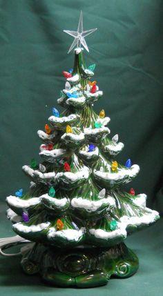 ceramic christmas tree light by pandaceramics - Green Ceramic Christmas Tree With Lights