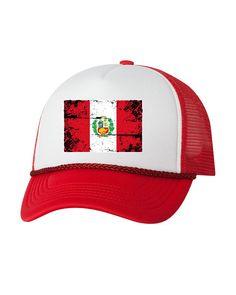 0602e53603b Peru Flag Trucker Hat Peru Hats for Men and Women Peruvian Football Cap  Peru Soccer Gifts Peru 2018