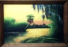 By Alfred Hair  Florida Highwaymen Collection  http://floridahighwaymen.com Vintage Florida, Old Florida, Florida Home, African American Artist, American Artists, Men Art, Black Artists, Morning Sun, Southern Charm