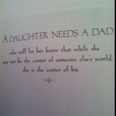 From the book 'Why A Daughter Needs A Dad' I bought this for Dustin 9 1/2 years ago... Love it