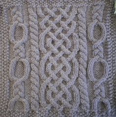 November Aran Afghan Square (Woolen Collectibles) pattern by Marin Melchior #FreePattern