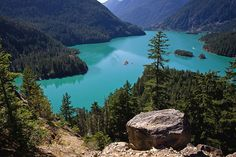 I have seen this lake and this is the true color ;) Diablo Lake, Washington state, USA. View from Diablo Lake Overlook. Photo by © Steven Pavlov / http://lovingwa.blogspot.com/