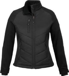 North End Womens Insulated Hybrid Bonded Fleece Water Resistant Jacket Coat North End. $55.97