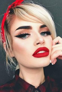 Best Makeup Ideas with Red Lipstick picture 1