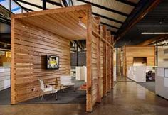 livestrong offices in Austin - meeting nook ideas with palette wood    http://www.contractdesign.com/contract/content_images/environmental-main.jpg