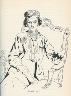 Portrait of Coco Chanel   -   Cecil Beaton  British, 1904–1980   Pen and Pencil and Ink ,  45.1 x 36.8 cm. (17.8 x 14.5 in.)