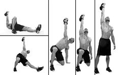 KETTLEBELL SO HARD. We've unleashed 10 of the best kettlebell exercises to crank up the intensity, incinerate fat, and blast your muscles. Kettlebell Snatch, Best Kettlebell Exercises, Full Body Kettlebell Workout, Kettlebell Swings, Workout Abs, Great Ab Workouts, At Home Workouts, Turkish Get Ups, Skinny To Fit