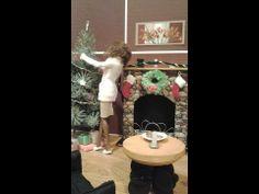 ▶ A Barbie Christmas: How to Make a Doll Christmas Tree and Fireplace - YouTube